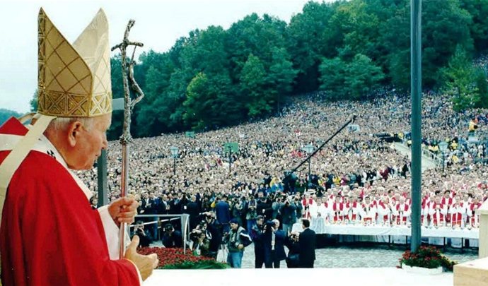 A place blessed by the Pope John Paul II.